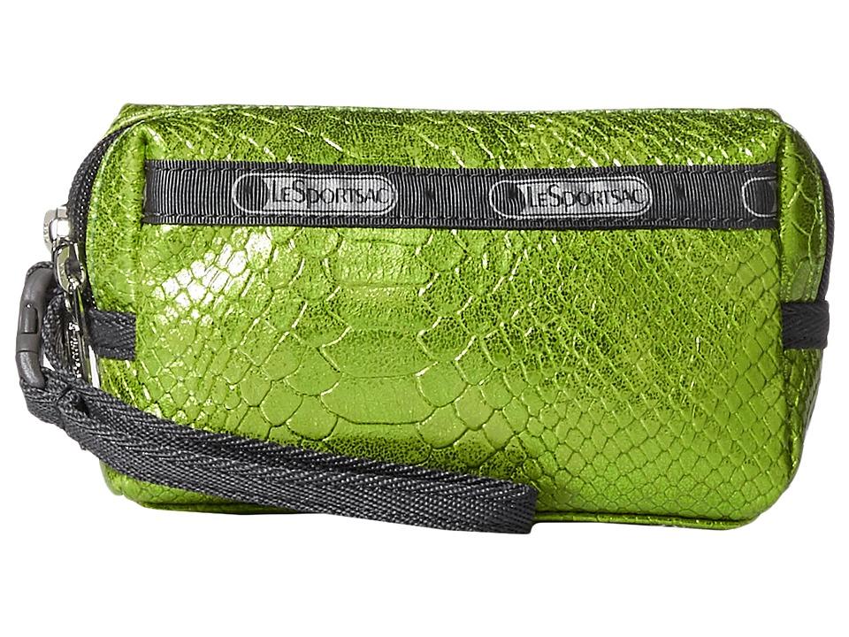 LeSportsac - Small 2 Zip Wristlet (Green Snake) Wristlet Handbags