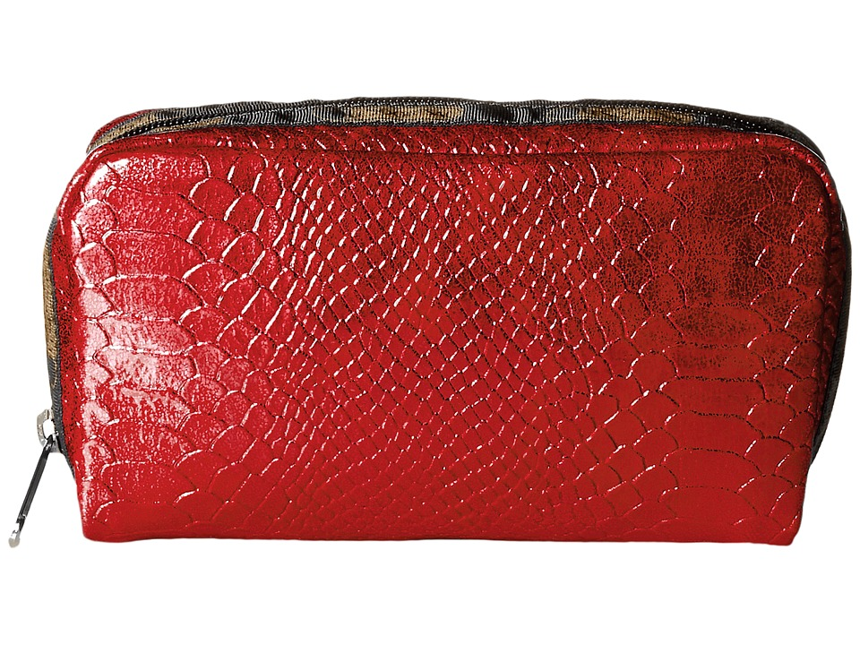 LeSportsac - Rectangular Cosmetic (Red Snake) Clutch Handbags