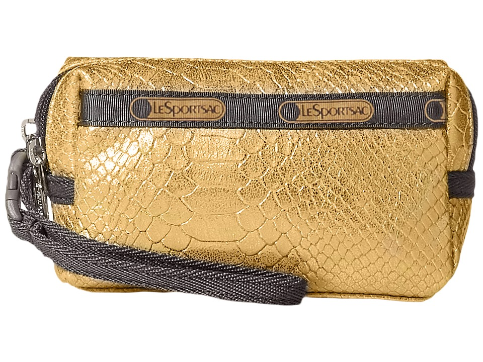LeSportsac - Small 2 Zip Wristlet (Gold Snake) Wristlet Handbags