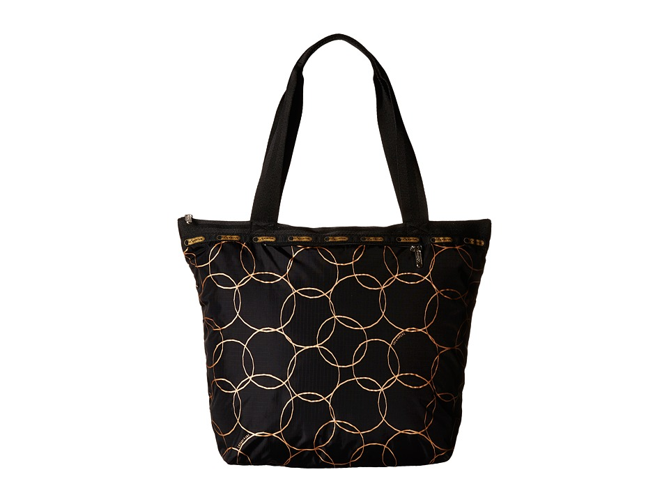 LeSportsac - Deluxe Hailey Tote (Gold Links Deluxe) Tote Handbags