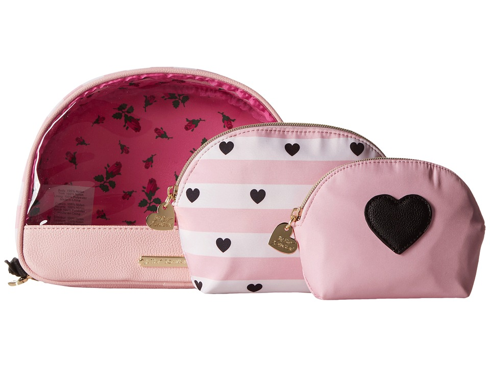 Betsey Johnson - Away We Go Three-Piece Cosmetic (Blush) Cosmetic Case