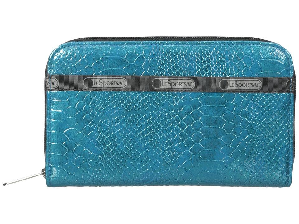 LeSportsac - Lily (Aqua Snake 1) Checkbook Wallet