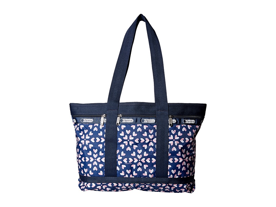 LeSportsac Luggage - Medium Travel Tote (Heart Burst Navy) Tote Handbags