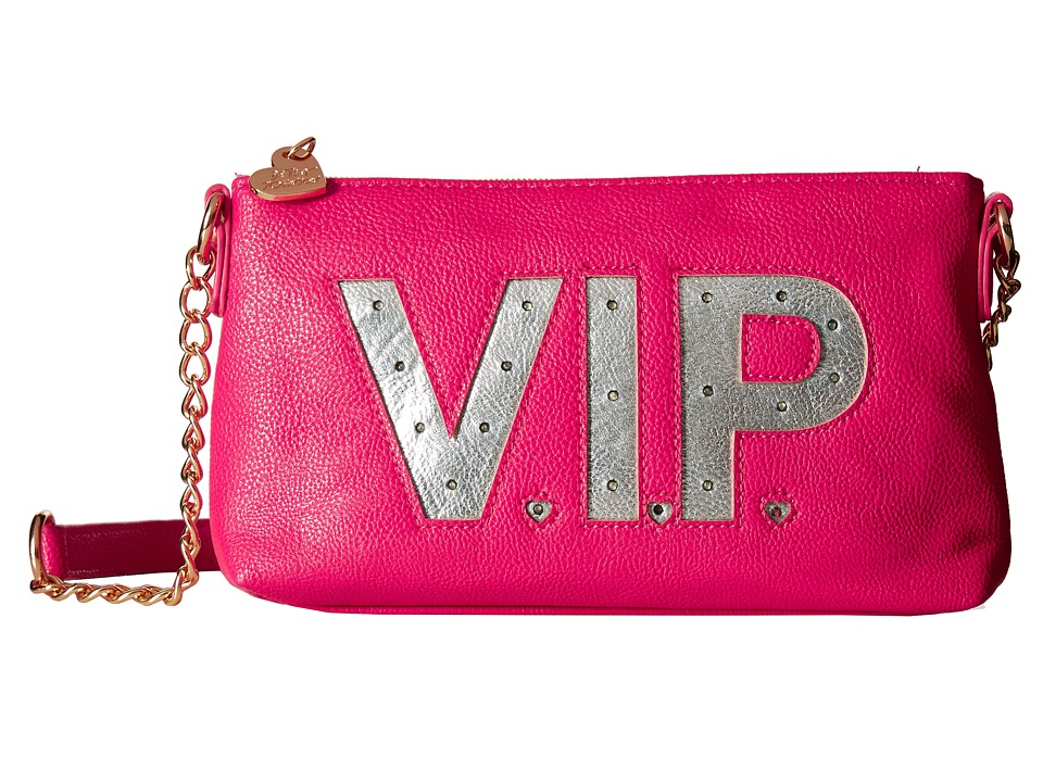 Betsey Johnson - Kitch Light Up Crossbody Vip (Fuchsia) Cross Body Handbags