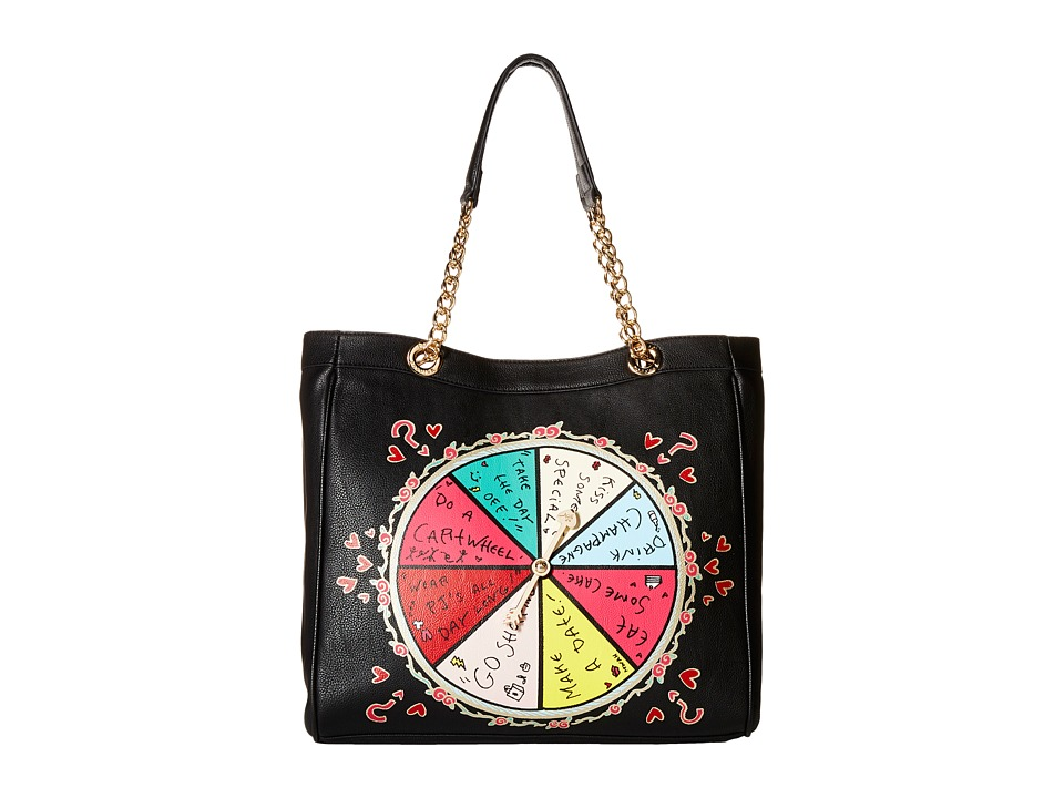 Betsey Johnson - Kitch Spinner Spinner Chicken Dinner Tote (Black) Tote Handbags