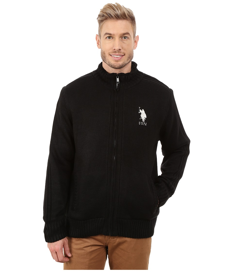 U.S. POLO ASSN. - Sherpa Lined Sweater (Black) Men's Sweater
