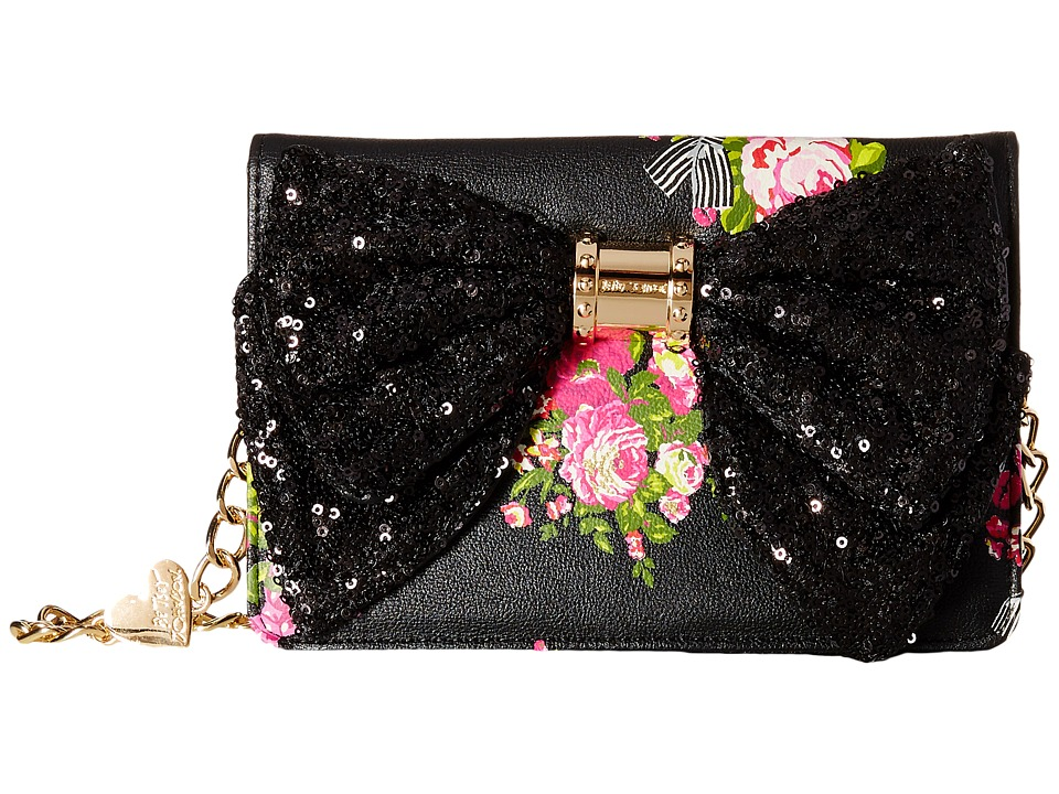 Betsey Johnson - Oh Bow Wallet On A String (50th Floral) Cross Body Handbags