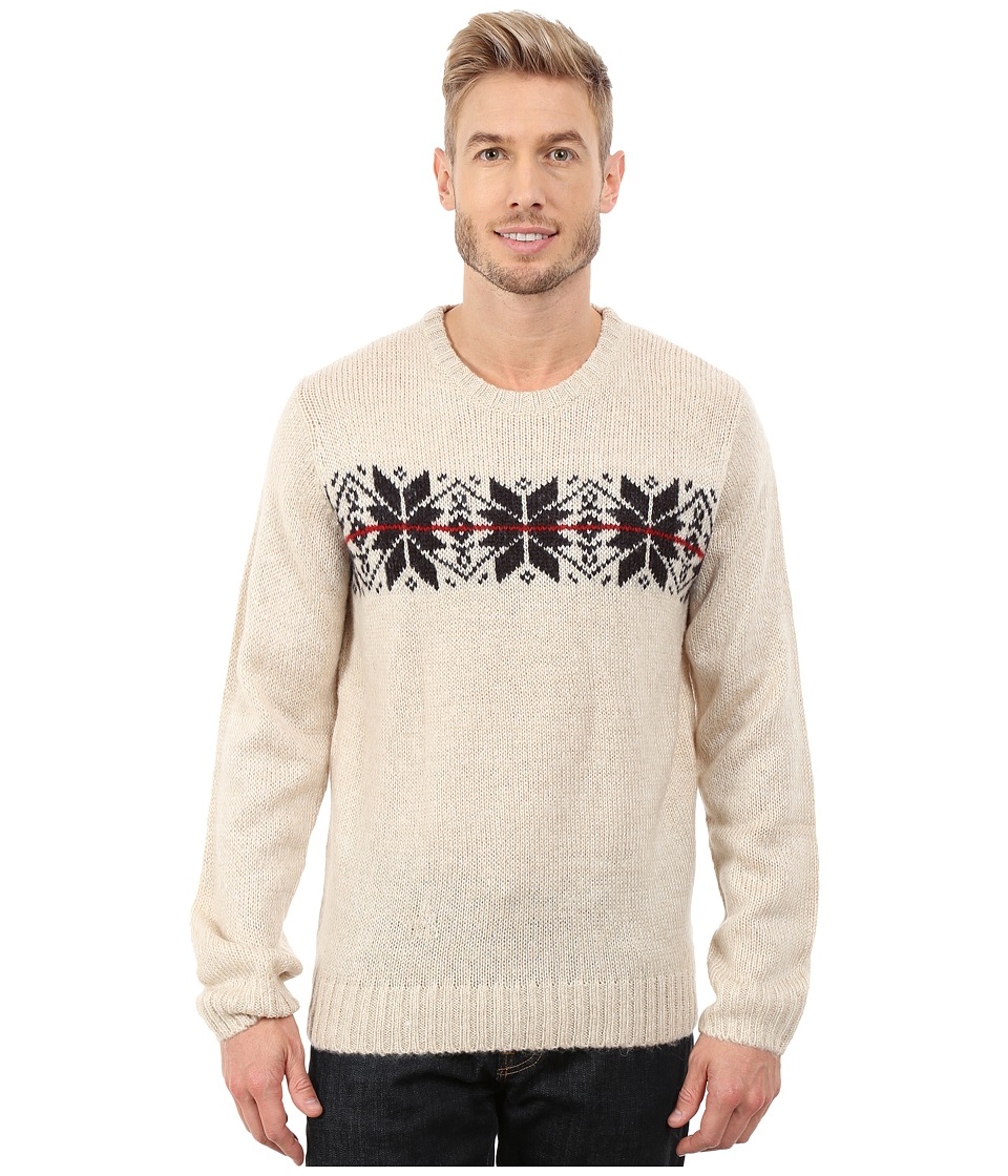 U.S. POLO ASSN. - Snowflake Crew Neck Sweater (Oatmeal) Men's Sweater