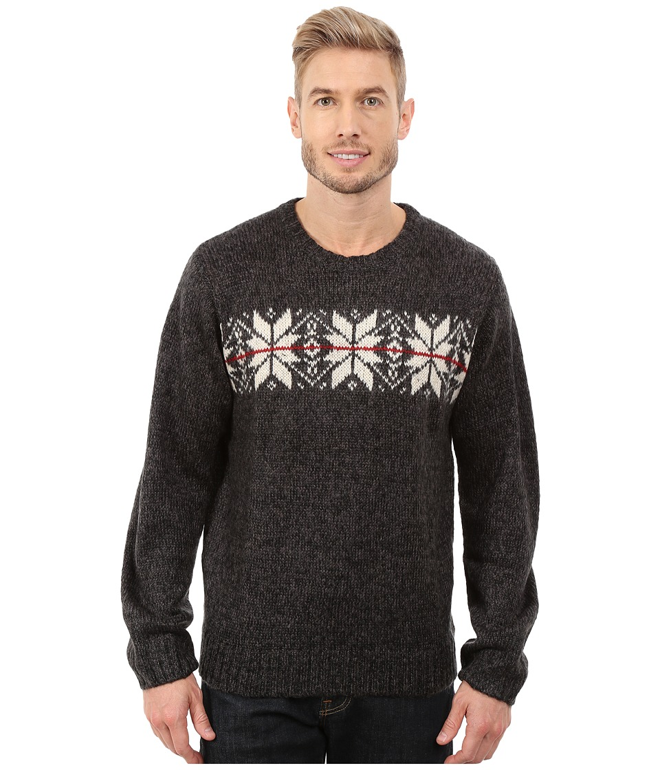 U.S. POLO ASSN. - Snowflake Crew Neck Sweater (Jet Marl) Men's Sweater