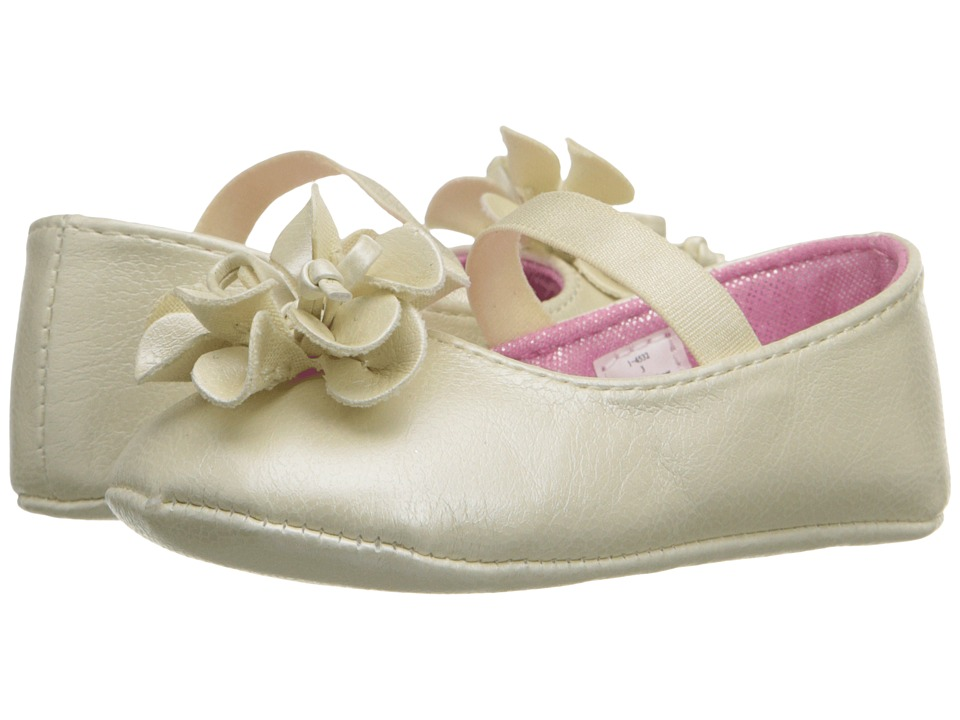 Baby Deer - Metallic Skimmer (Infant) (Ivory) Girls Shoes