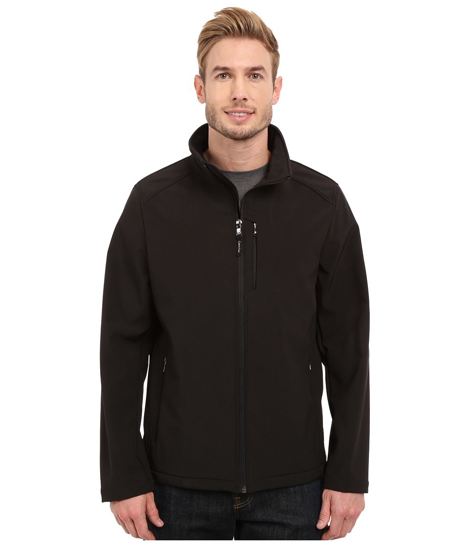 Calvin Klein Softshell Open Bottom Jacket (Black) Men