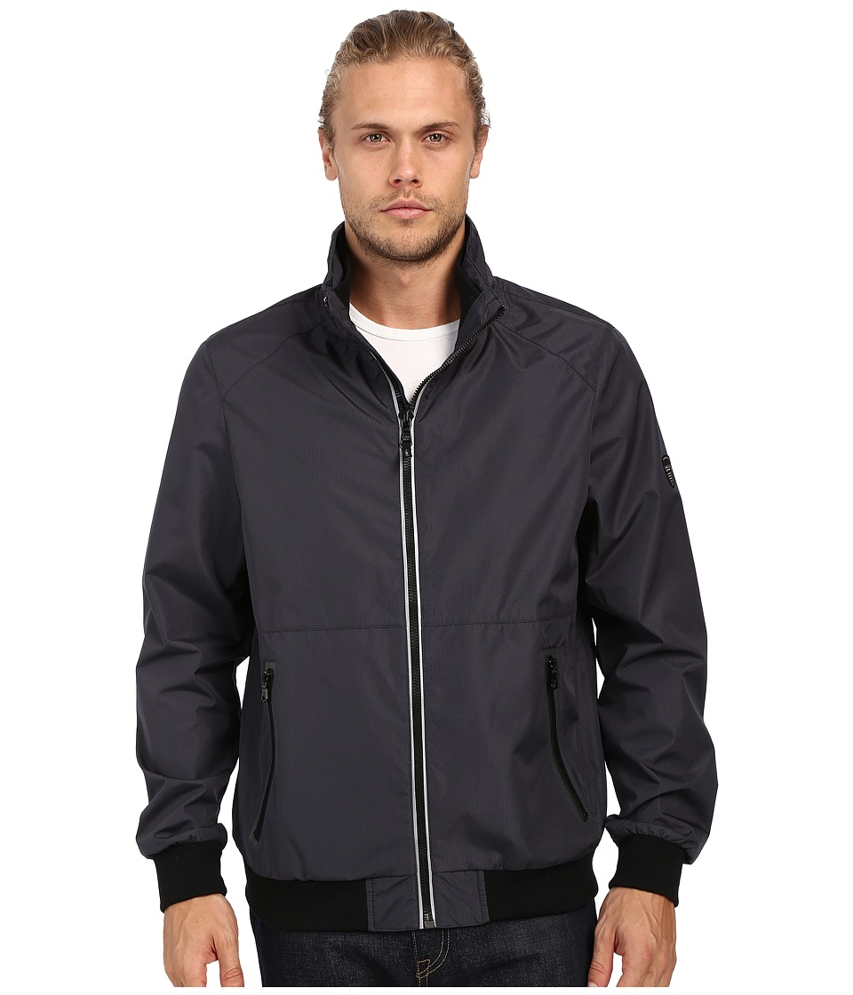 Calvin Klein - Laminated Rip Stop Bomber (Blue Metal) Men's Coat