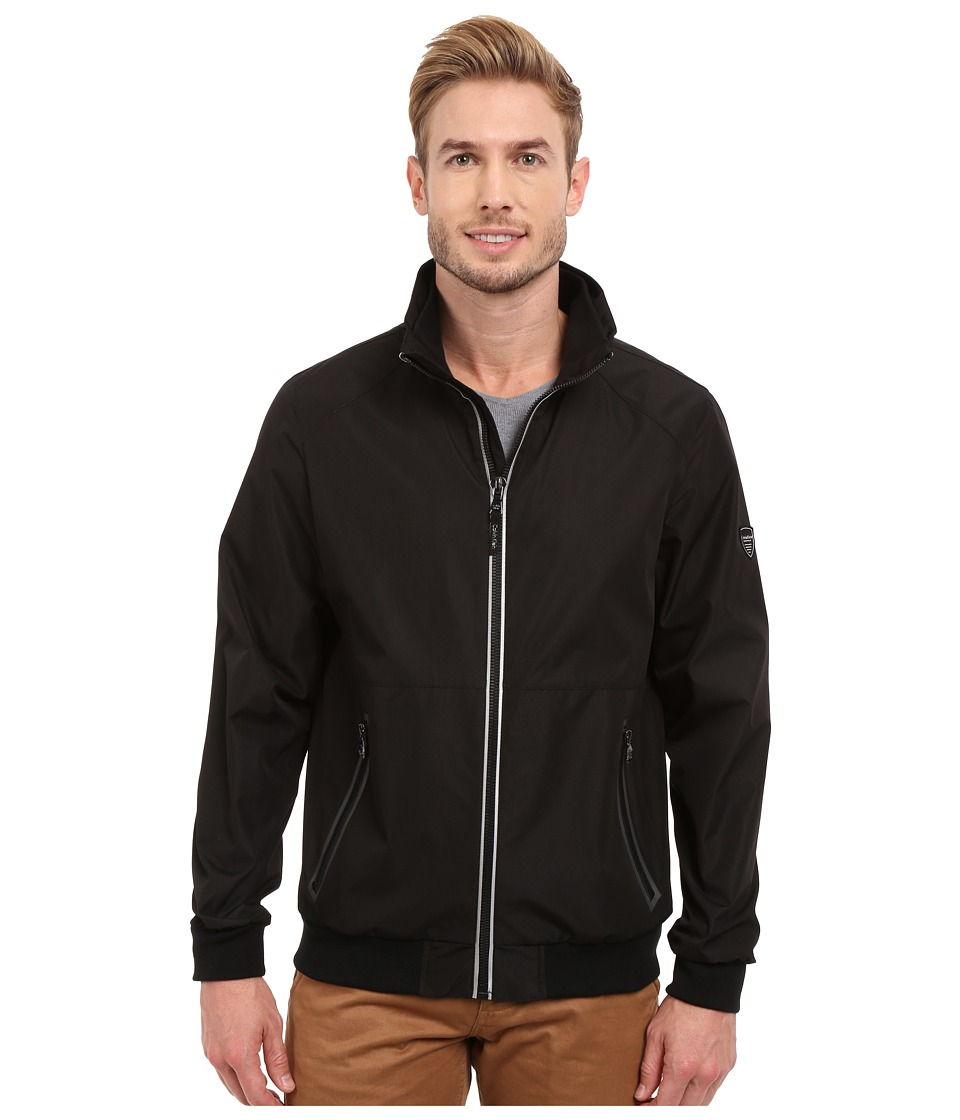 Calvin Klein - Laminated Rip Stop Bomber (Black) Men's Coat
