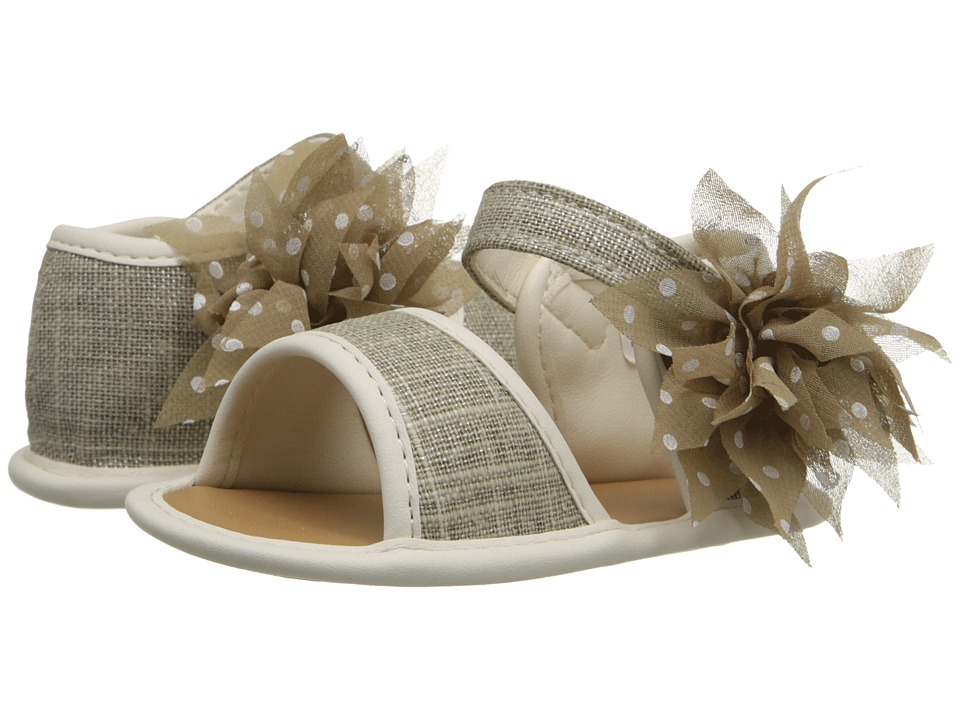 Baby Deer - Linen Sandal (Infant) (Tan) Girls Shoes