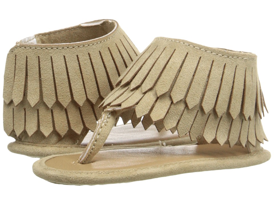 Baby Deer - Fringe Sandal (Infant) (Tan) Girls Shoes
