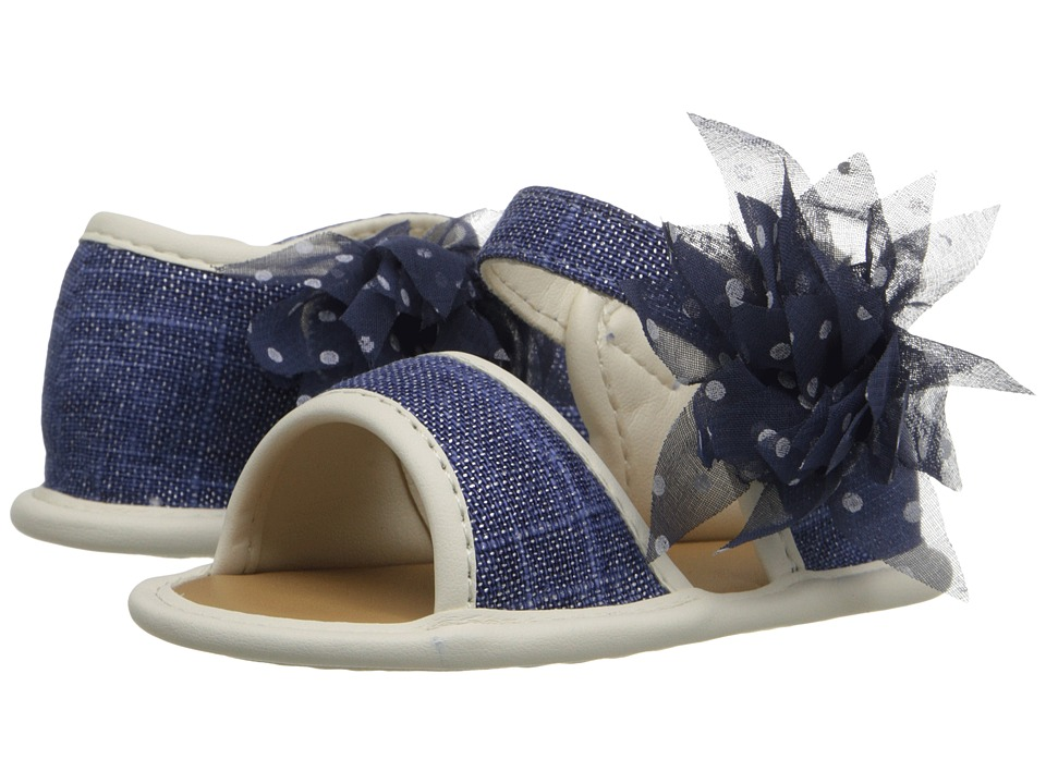Baby Deer - Linen Sandal (Infant) (Navy) Girls Shoes