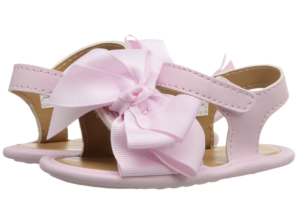 Baby Deer - Double Strap Sandal with Bow (Infant) (Pink) Girls Shoes