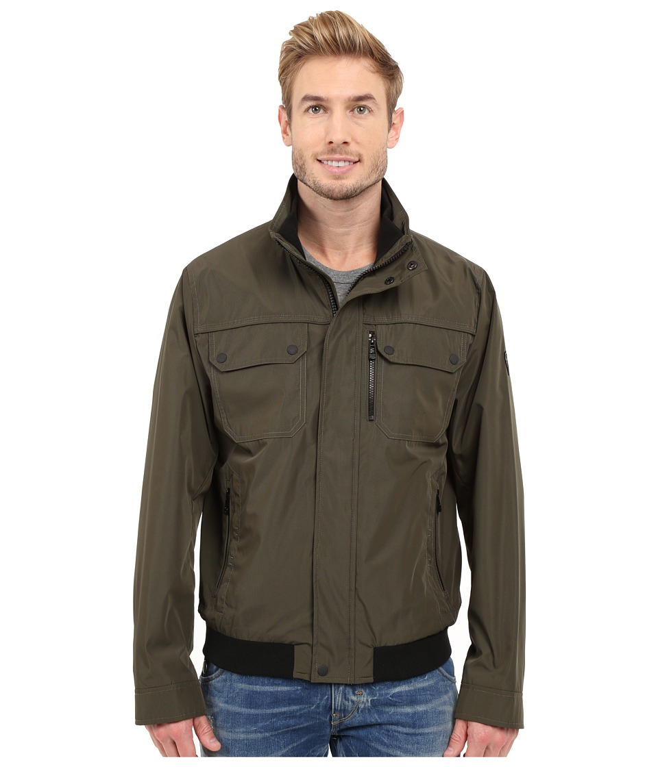 Calvin Klein - Grid Check Bomber (Forest) Men's Coat
