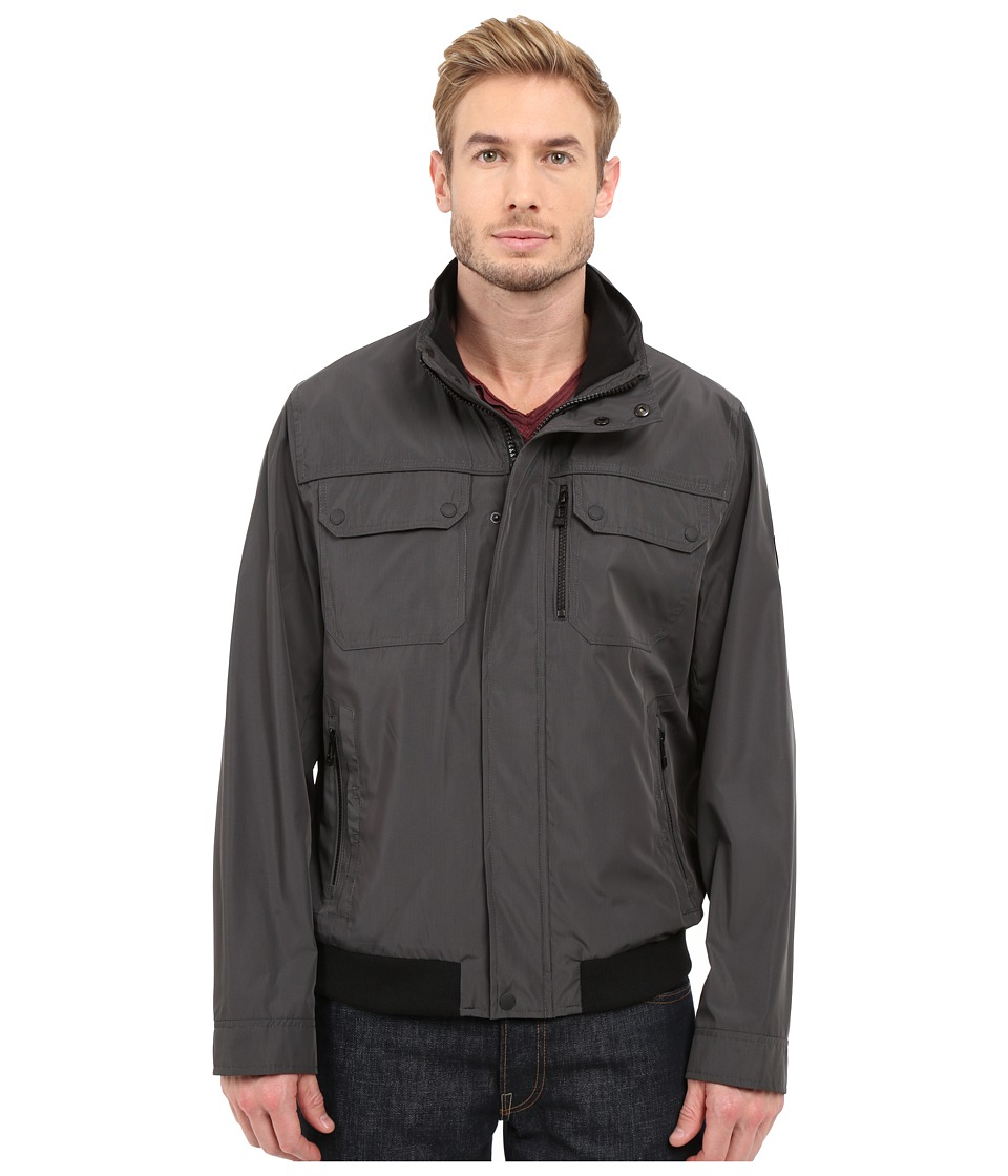 Calvin Klein - Grid Check Bomber (Deep Charocal) Men's Coat