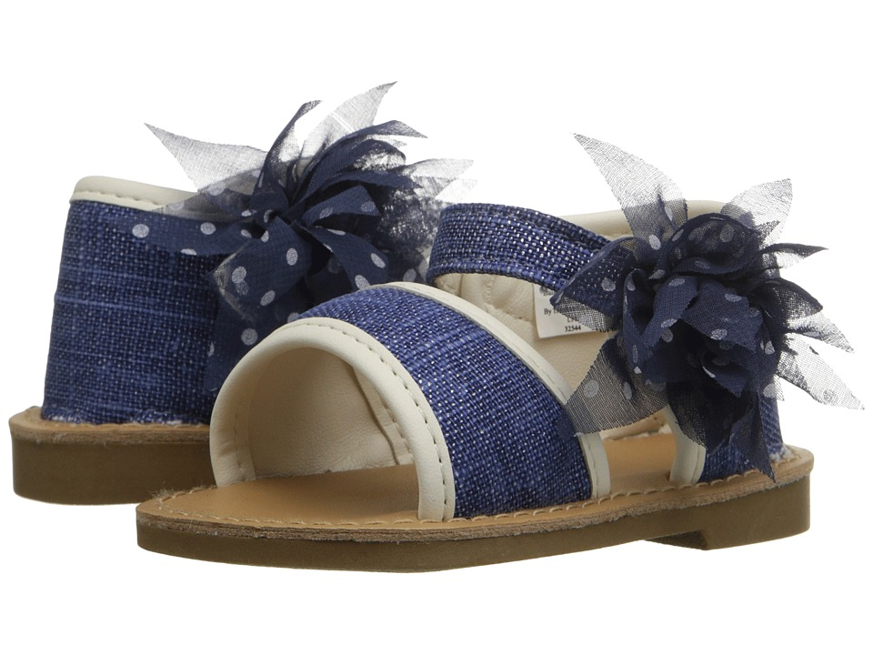 Baby Deer - Linen Sandal (Infant/Toddler) (Navy) Girls Shoes