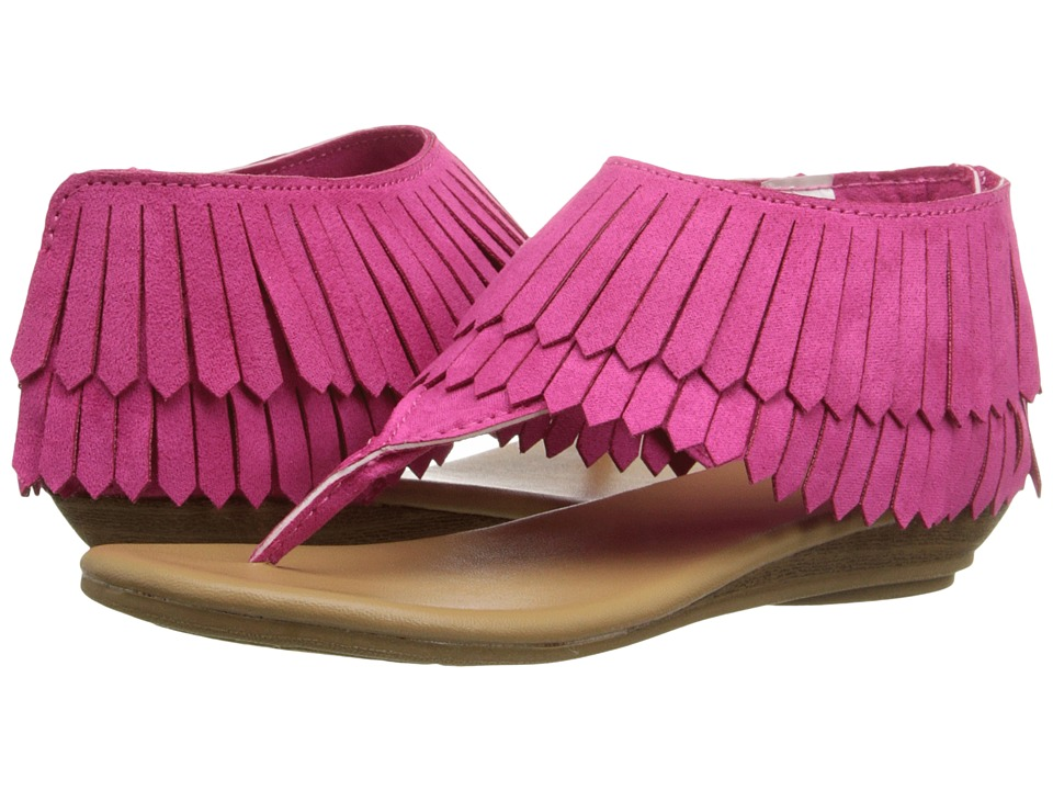 Baby Deer - Fringe Sandal (Infant/Toddler) (Fuchsia) Girls Shoes