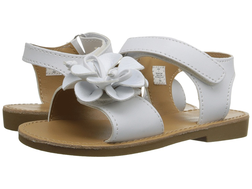 Baby Deer - Double Strap Sandal (Infant/Toddler) (White) Girls Shoes