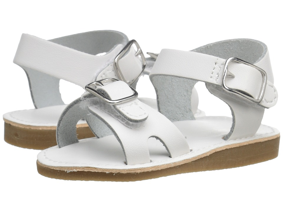 Baby Deer - Double Strap Sandal with Buckles (Infant/Toddler) (White) Kids Shoes