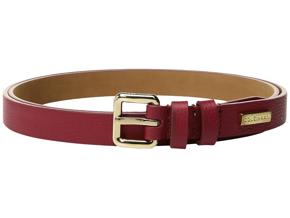Cole Haan 20mm Pebble Leather Belt (Red) Men