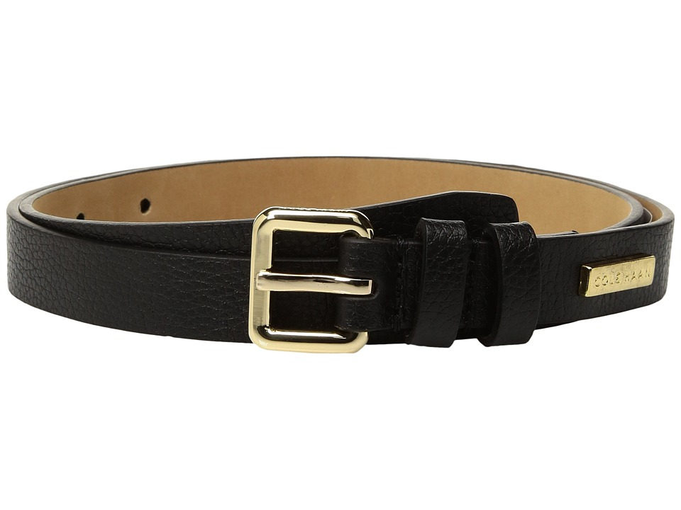 Cole Haan 20mm Pebble Leather Belt (Black) Men