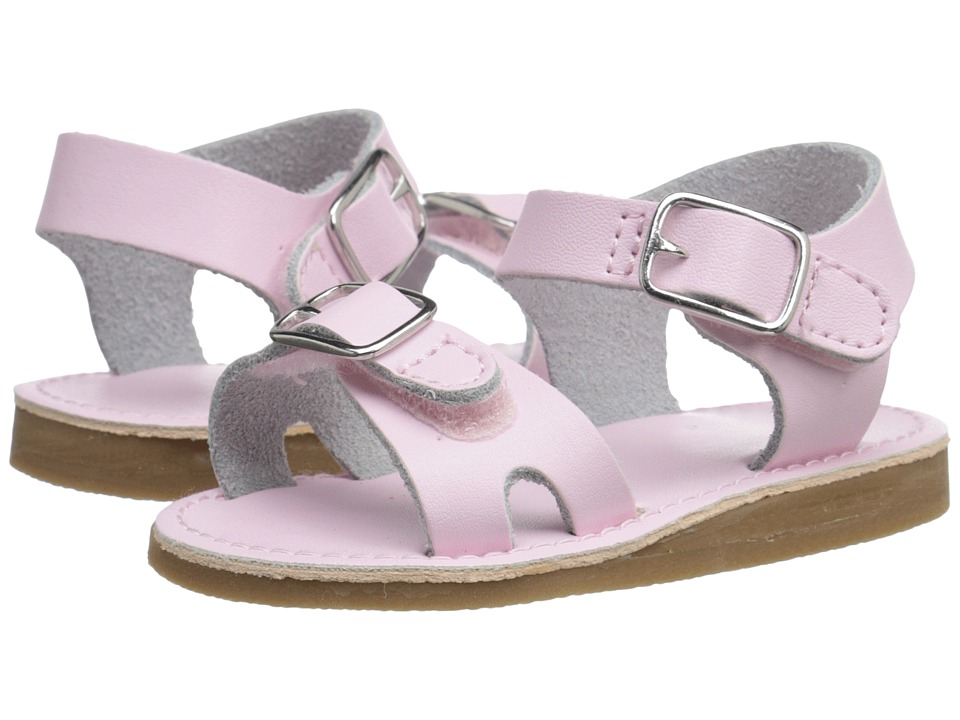 Baby Deer - Double Strap Sandal with Buckles (Infant/Toddler) (Pink) Girls Shoes