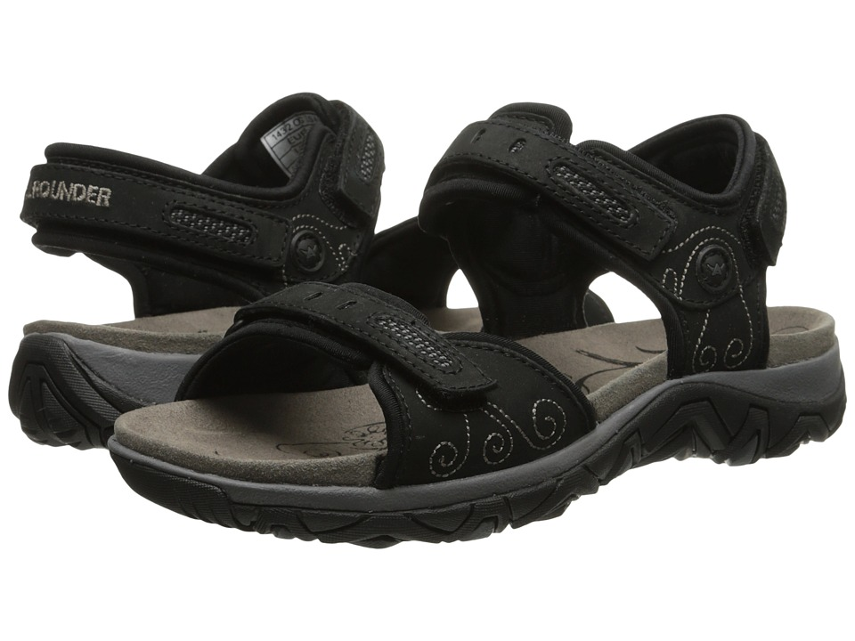 Allrounder by Mephisto - Lagoona (Black Nubuck/Lycra) Women's Sandals