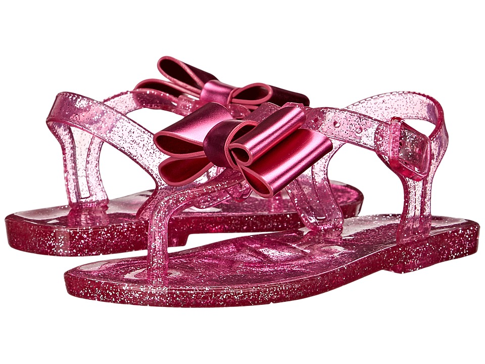 Baby Deer - Jelly Bow Thong Sandal (Infant/Toddler) (Fuchsia) Girls Shoes