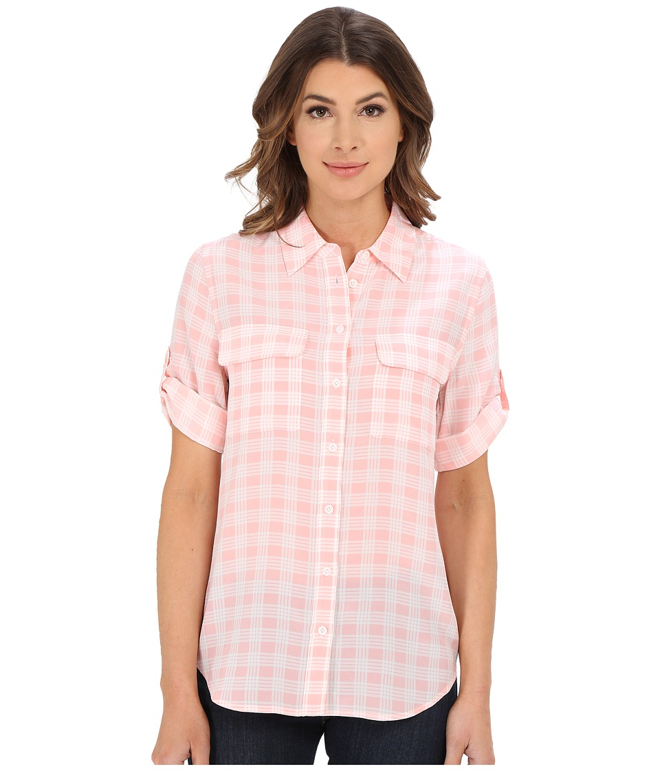 EQUIPMENT - Short Sleeve Slim Signature (Blossom) Women's Short Sleeve Button Up