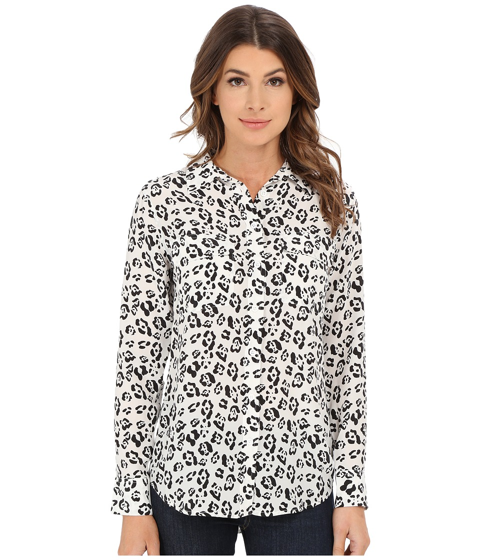 EQUIPMENT - Slim Signature Blouse (Bright White) Women's Blouse