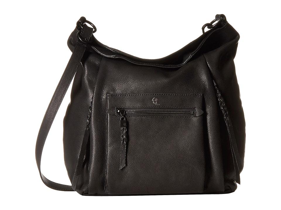 Elliott Lucca - Vivien Fold-Over Hobo (Black) Cross Body Handbags