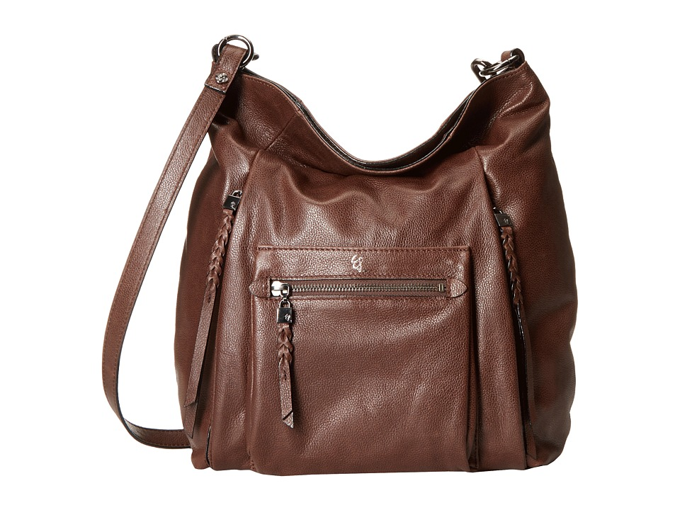 Elliott Lucca - Vivien Fold-Over Hobo (Dark Brown) Cross Body Handbags