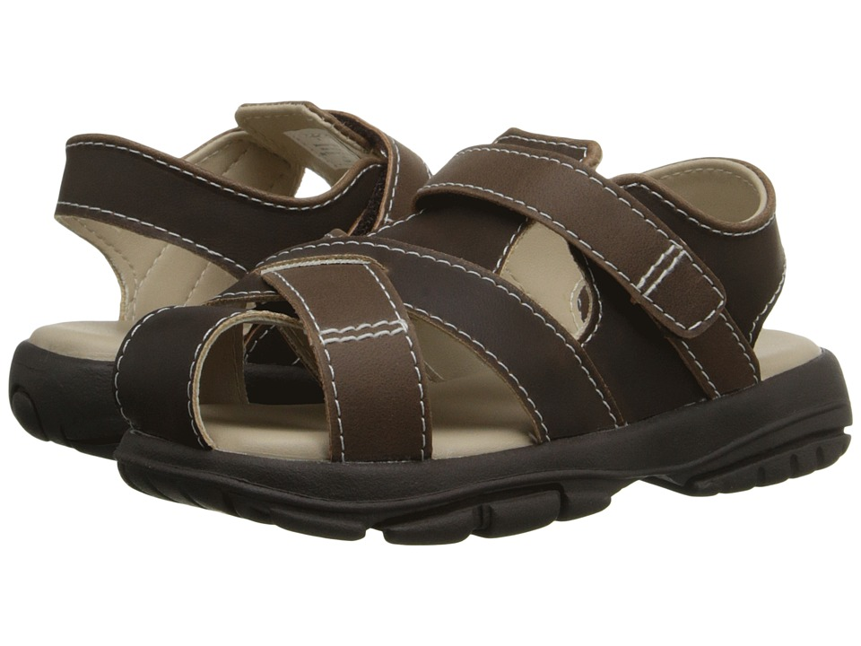 Baby Deer - Fisherman Sandal Walking Sole (Infant/Toddler) (Brown) Boys Shoes