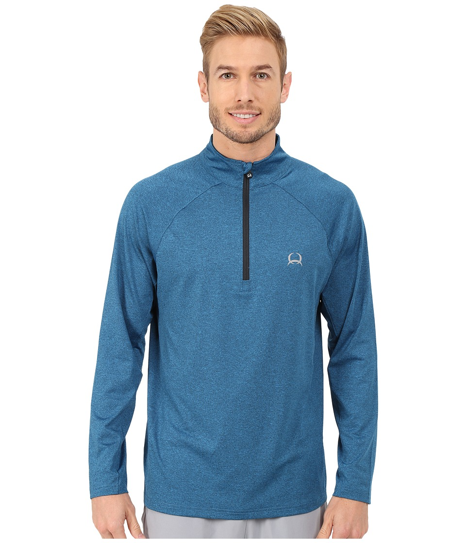 Cinch - Raglan Athletic Technical 1/4 Zip (Blue) Men's Clothing
