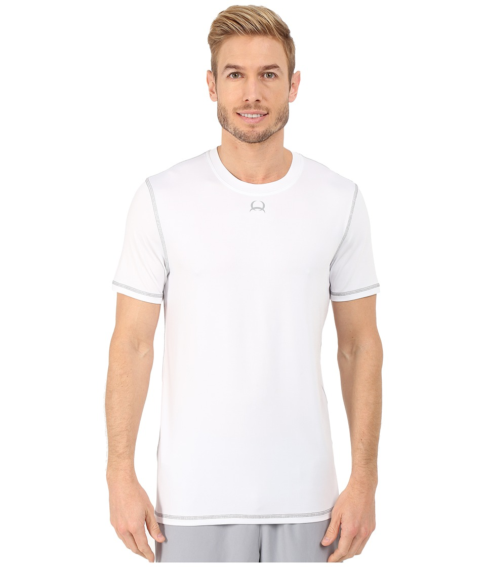 Cinch - Athletic Tech Short Sleeve T-Shirt (White) Men's Clothing