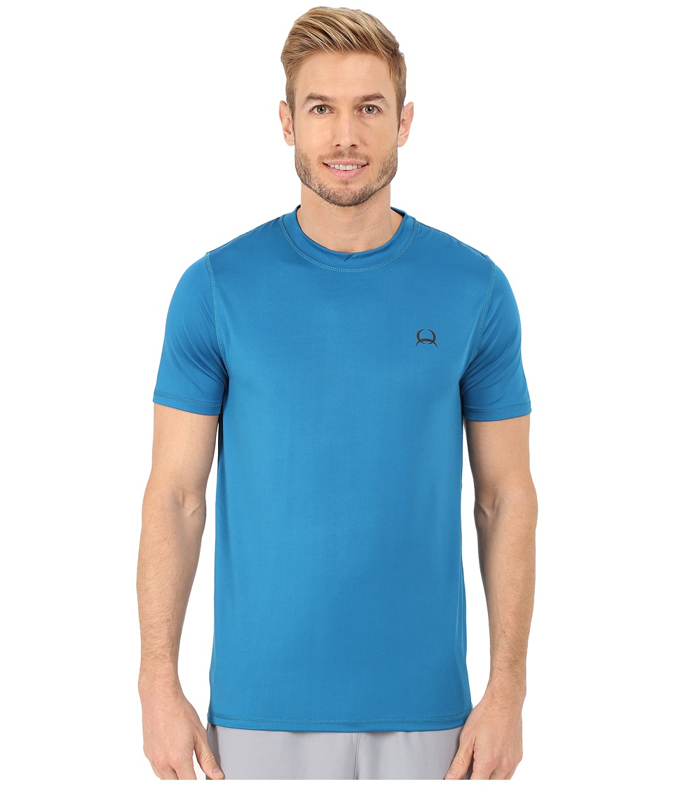 Cinch - Athletic Tech Short Sleeve T-Shirt (Blue) Men's Clothing