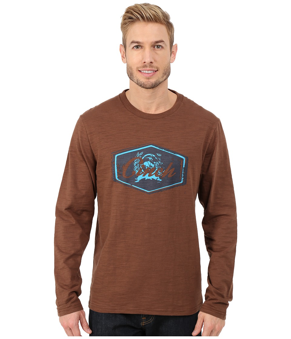 Cinch - L/S Slub Tee (Brown) Men's T Shirt