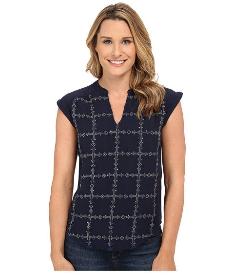 Lucky Brand - Embellished Top (American Navy) Women