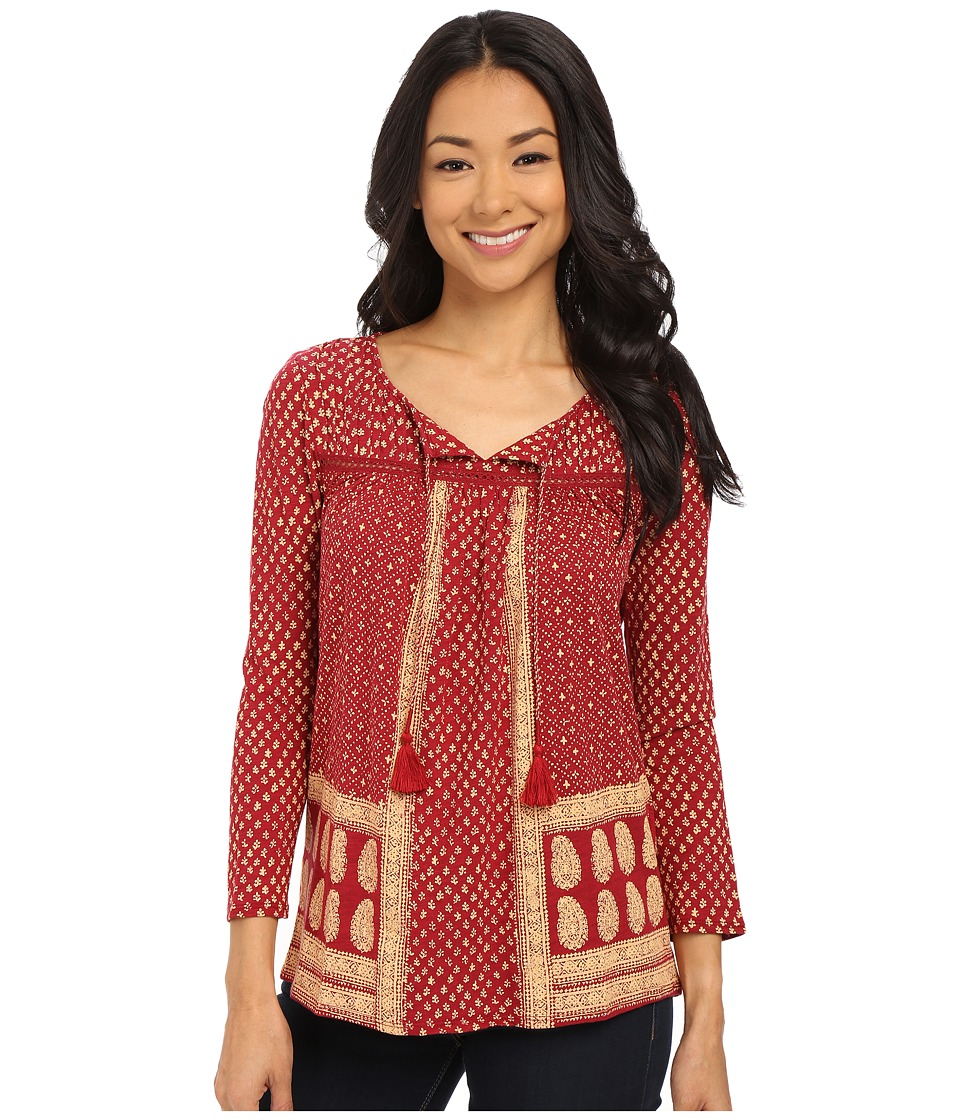 Lucky Brand - Ditzy Flower Top (Red Multi) Women