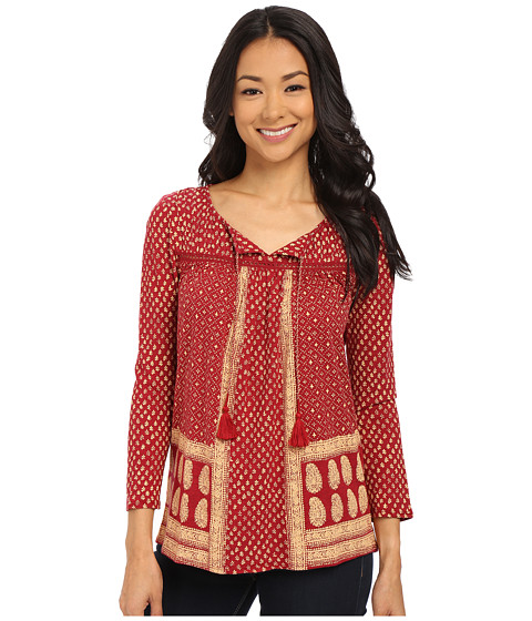Lucky Brand - Ditzy Flower Top (Red Multi) Women's Blouse