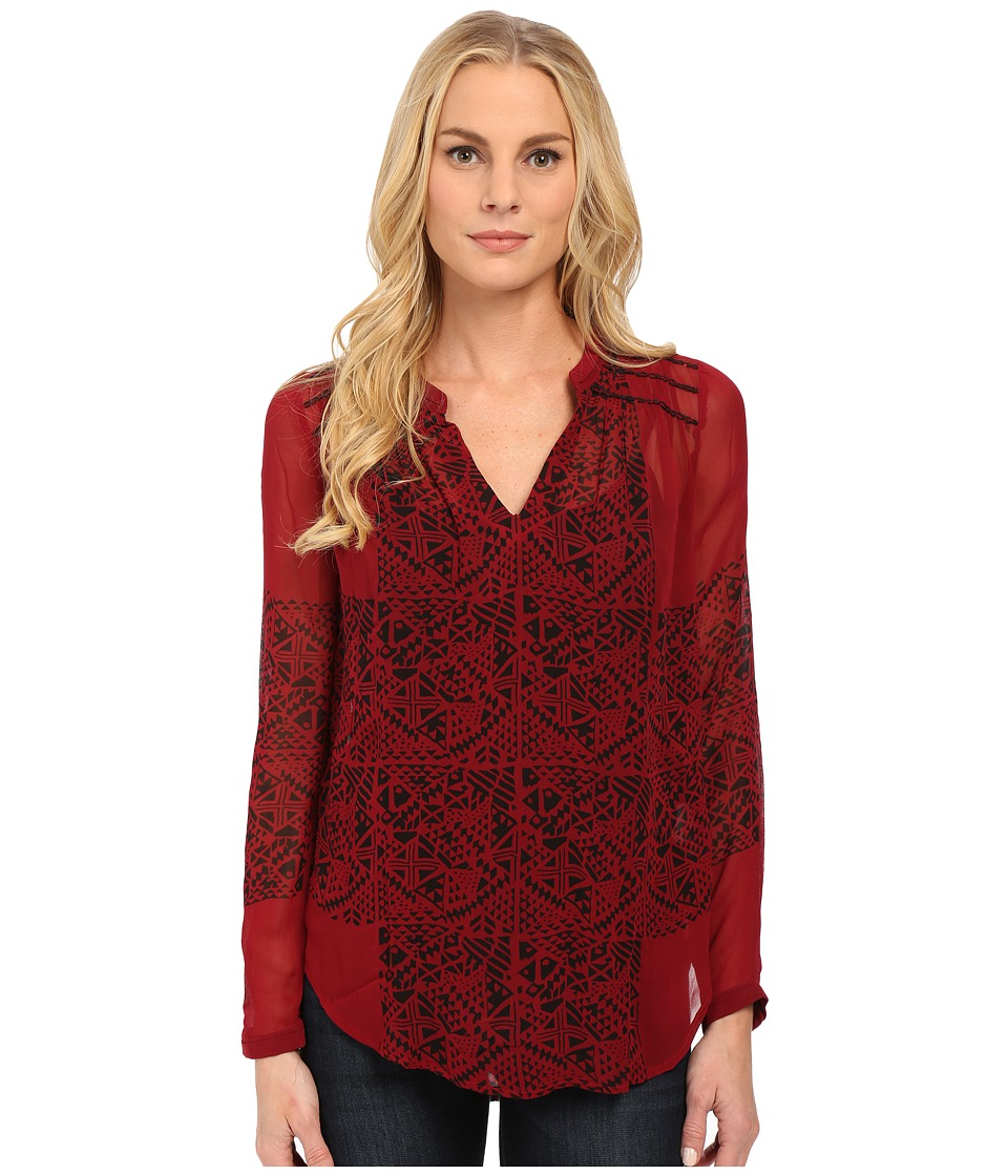 Lucky Brand - Modern Geo Top (Red Multi) Women's Blouse