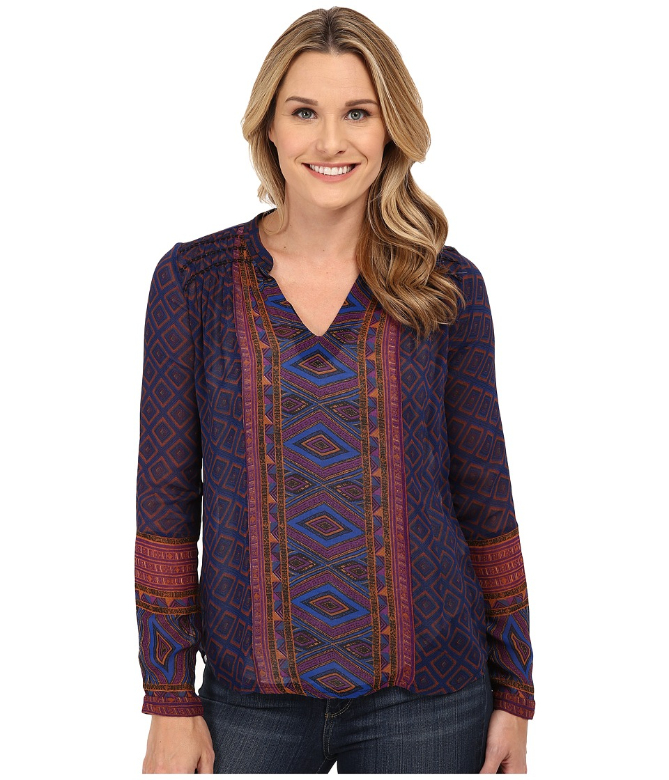 Lucky Brand - Placed Geo Top (Purple Multi) Women's Blouse