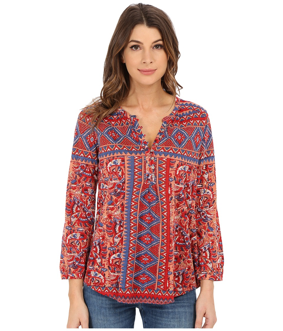 Lucky Brand - Diamond Aztec Top (Multi) Women's Long Sleeve Pullover