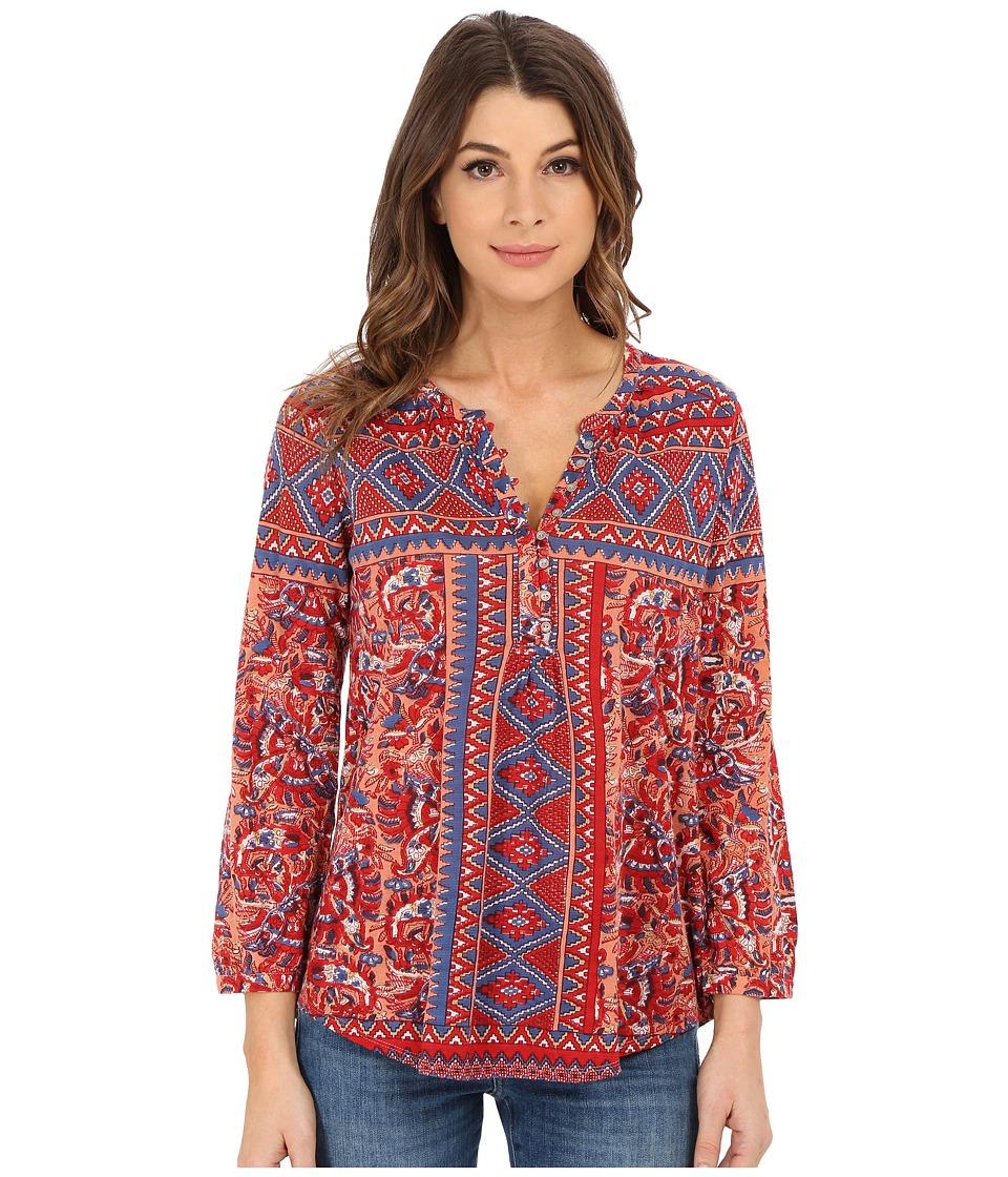 Lucky Brand - Diamond Aztec Top (Multi) Women's Long Sleeve Pullover