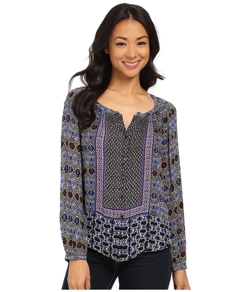 Lucky Brand - Gypsy Ikat Top (Blue Multi) Women