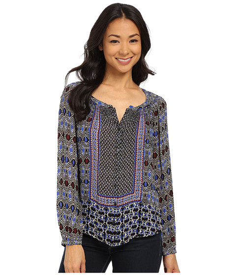 Lucky Brand - Gypsy Ikat Top (Blue Multi) Women's Blouse